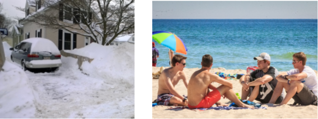 While Boston set an annual snowfall record... Cru students shared Jesus in Panama City Beach, Florida.