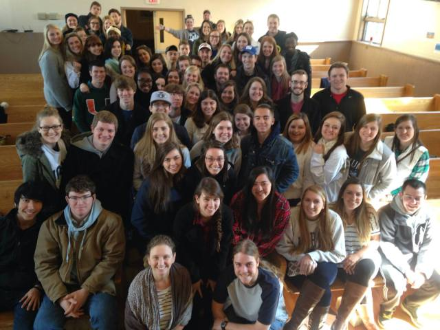 Just a few Cru students on Tribeca Spring Break Week 2